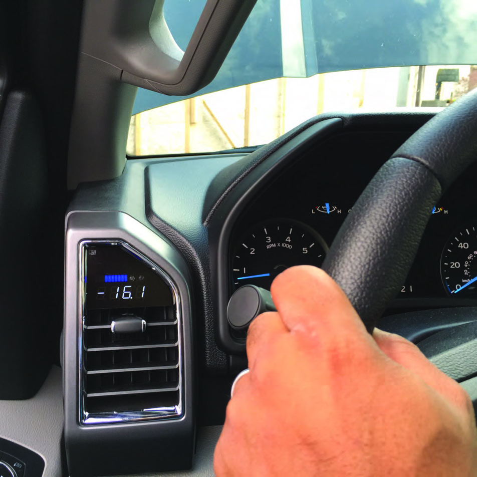 How To Install A Raxiom Vent Integrated Boost Gauge W O Housing 2006 F150 Wiring Diagram Dimmer Right Button Hold Night Day Toggled If Auto Dimming Is Not Enabled