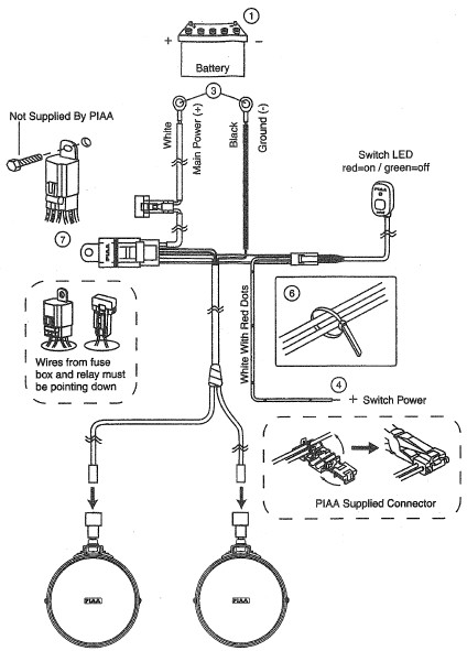 How to Install PIAA 540 Series 5 in. Round Ion Yellow ... Halogen Wiring Diagram Relay on