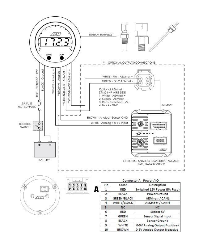 aem boost gauge wiring