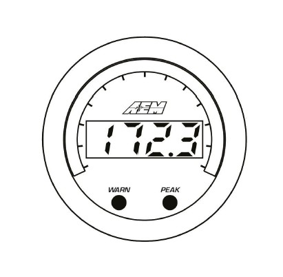 how to install aem electronics x series exhaust temperature gauge Tach RPM Airplane warn and peak buttons are located on the face of the gauge and are used to perform the following functions