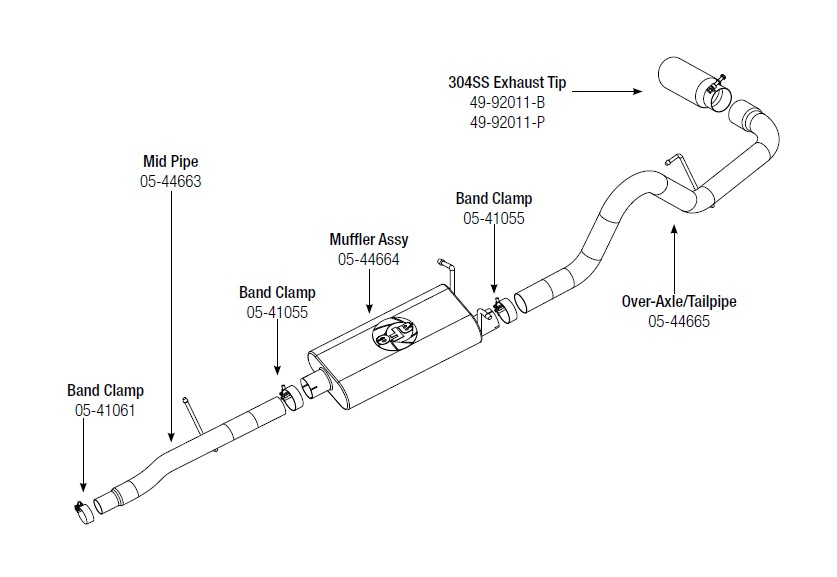 how to install afe mach force xp cat back single side exit exhaust rh americantrucks com 2006 ford f150 exhaust diagram 2006 ford f150 exhaust diagram