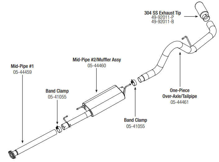 Step 1 Read Instructions Prior To Installation Remove Your Stock Exhaust Up The Catalytic Converter From Rear Of Truck Working Way: 2003 Ford F 150 Rear Differential Diagrams At Sergidarder.com