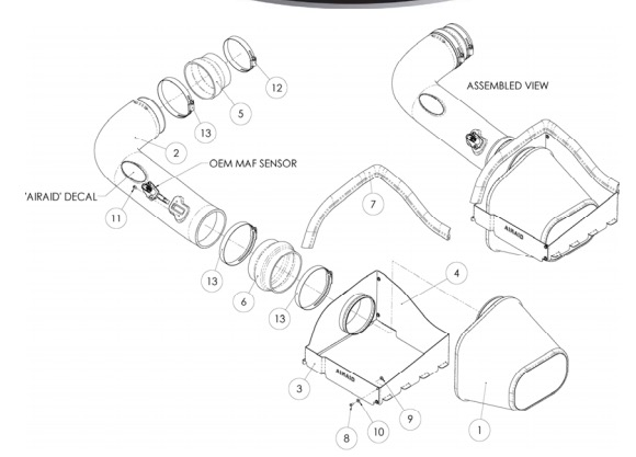 How To Install An Airaid Cold Air Dam Intake
