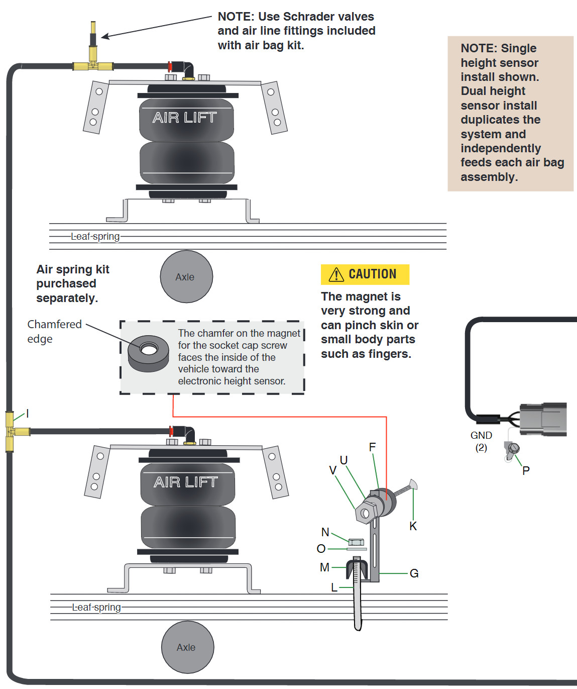 How To Install Air Lift Smartair Ii Automatic Leveling System Wiring Socket Height Installation Diagram