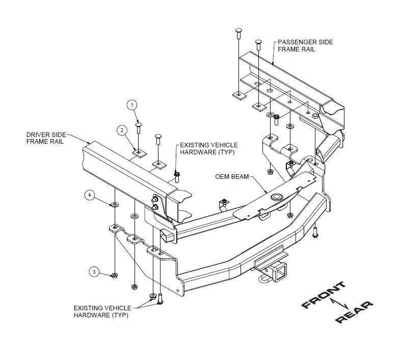 How To Install Curt Manufacturing Class Iv Trailer Hitch