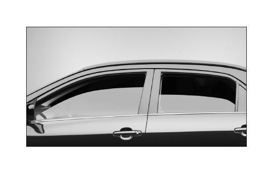 How to install weathertech front side window deflectors for All side windows