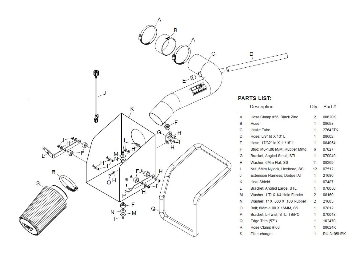 How to Install K&N Blackhawk Cold Air Intake on your Dodge ...  Dodge Ram Ke Wiring Diagram on