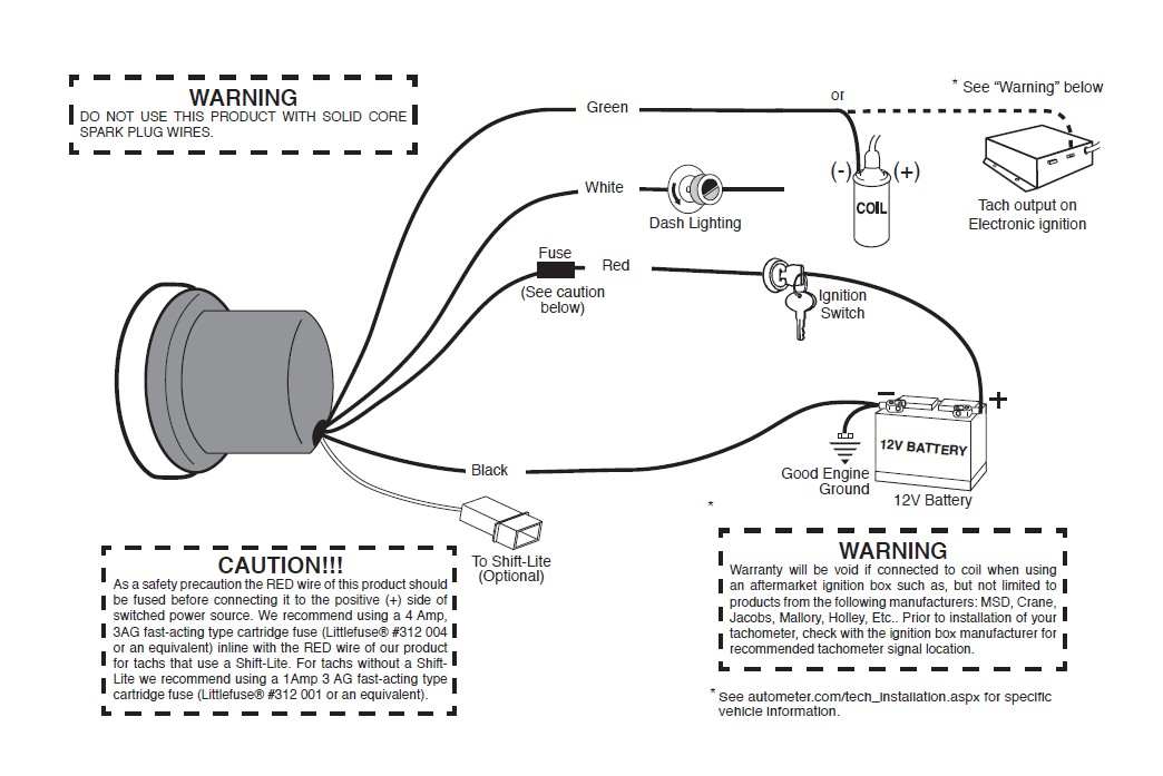 How to Install Mopar 5 in. Pedestal Tachometer w/ Shift Light ... Mallory Distributor Tach Drive Wiring Diagram on