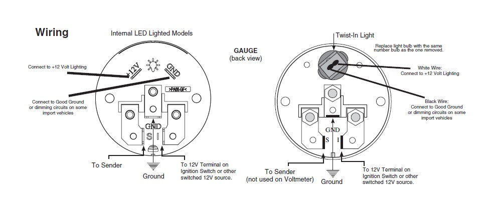 electric temperature gauge wiring diagram