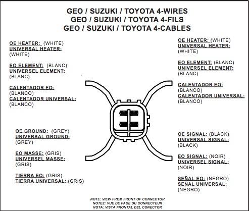 on 4 wire oxygen sensor diagram toyota
