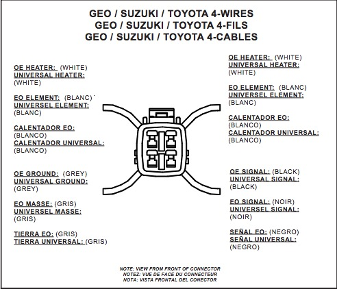 How to Install NTK Performance Oxygen Sensor - Front on your F-150 Universal O Sensor Wiring Diagram Toyota on turbocharger diagram, universal o2 wire color reference, 2005 nissan altima fuse box diagram, oxygen sensor diagram, universal engine wiring diagram, ford cd4e transmission diagram, universal oxygen sensor colors,