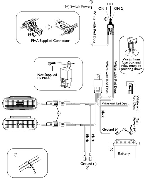 piaa 510 wiring diagram how to install piaa 1500 series clear halogen back-up ... piaa light wiring diagram #3