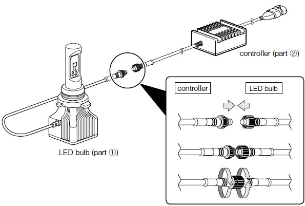 how to install piaa high output white led high beam bulb