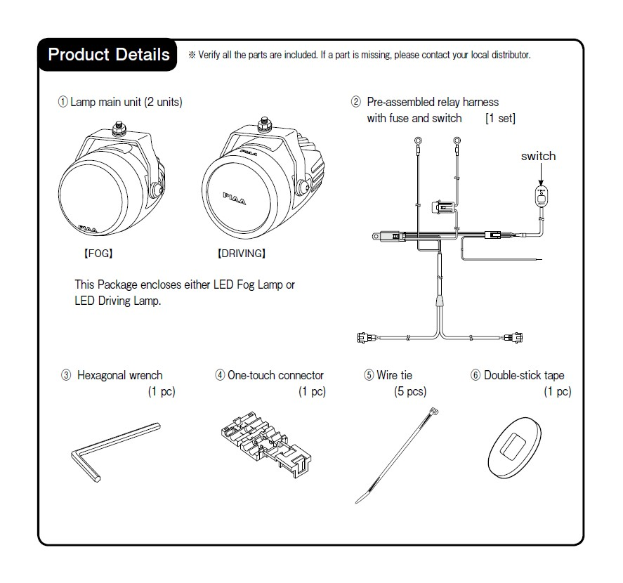 How to install piaa lp270 275 in round led lights fog beam this instruction manual im refers to the led driving lamp system but can also be applied to the led fog lamp system cheapraybanclubmaster Images