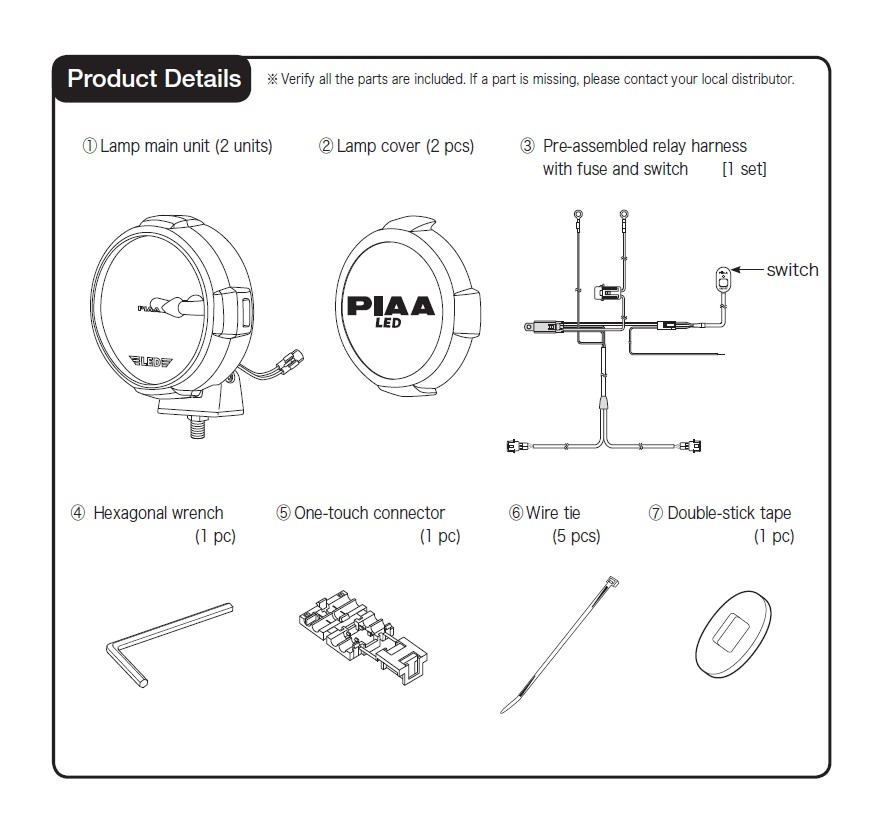 How to Install PIAA LP570 7 in  Round LED Lights - Driving