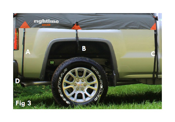3-Loosely attach the C straps to the bottom outside lip of the truck bed (Fig 3).  sc 1 st  AmericanTrucks : chevy silverado tent - memphite.com